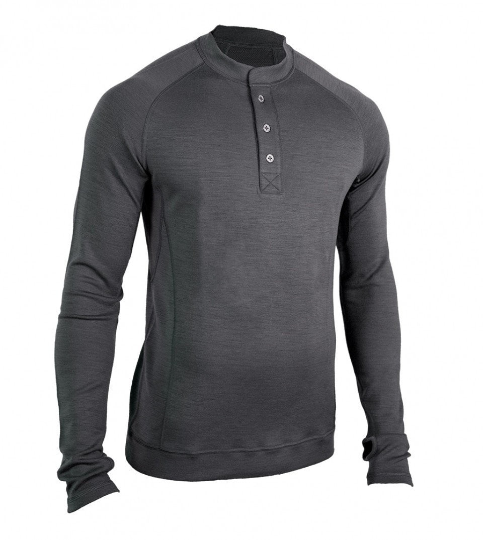 Men's Bamboo-Merino Long Sleeve Sport Henley Shirt
