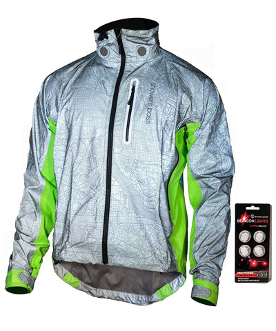 Men's Hi-Vis Torch Jacket with Beacon Lights