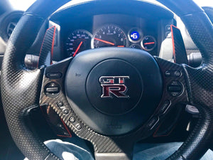 R35 GTR Carbon Fiber composite extended paddle shifters