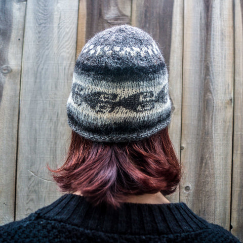 Natural & Undyed Alpaca Wool Beanie