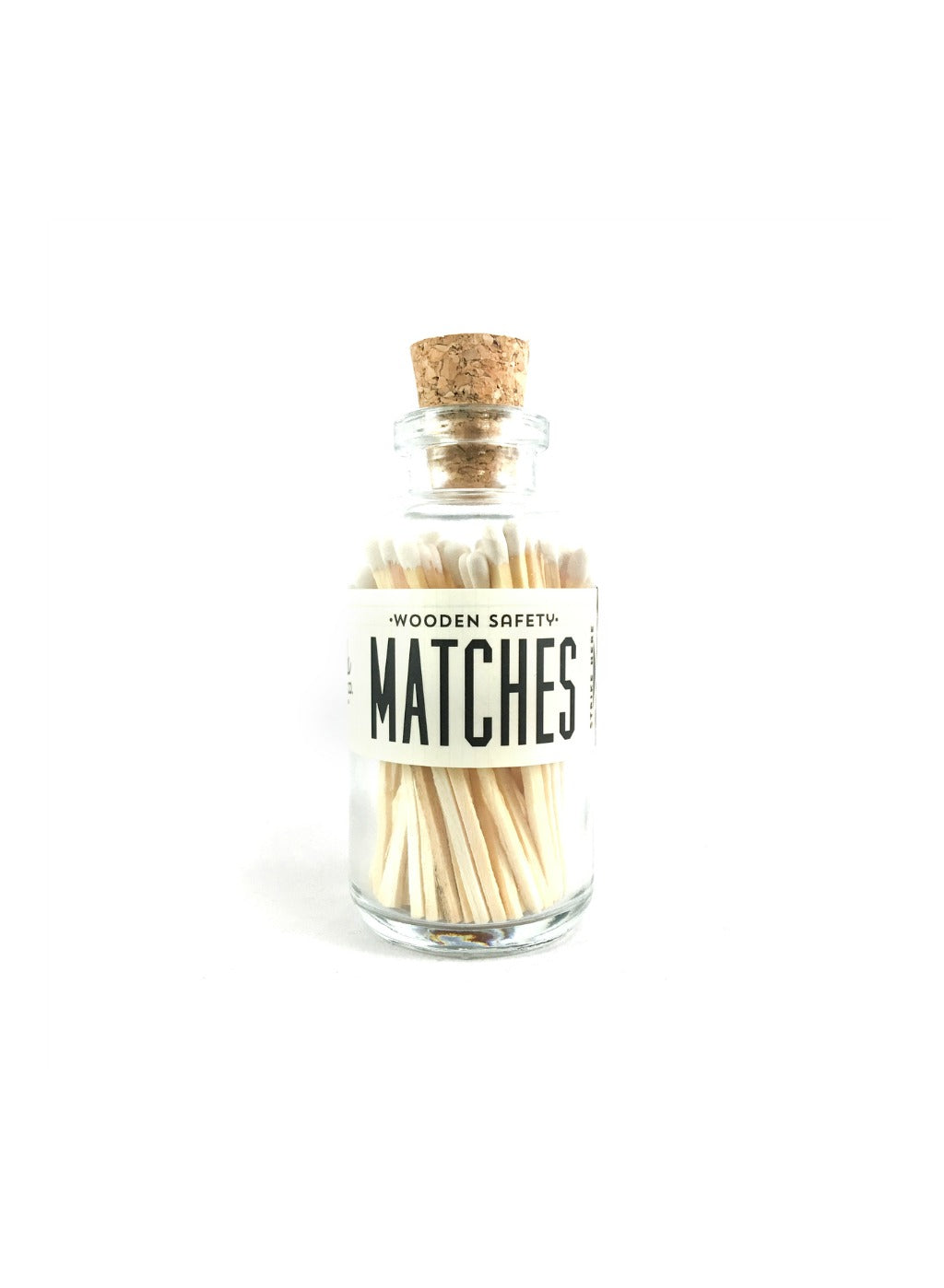 White Vintage Apothecary Matches - Small