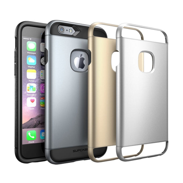 iPhone 6s & 6 Dual Layer Slim Hybrid Case with 3 Interchangeable Covers