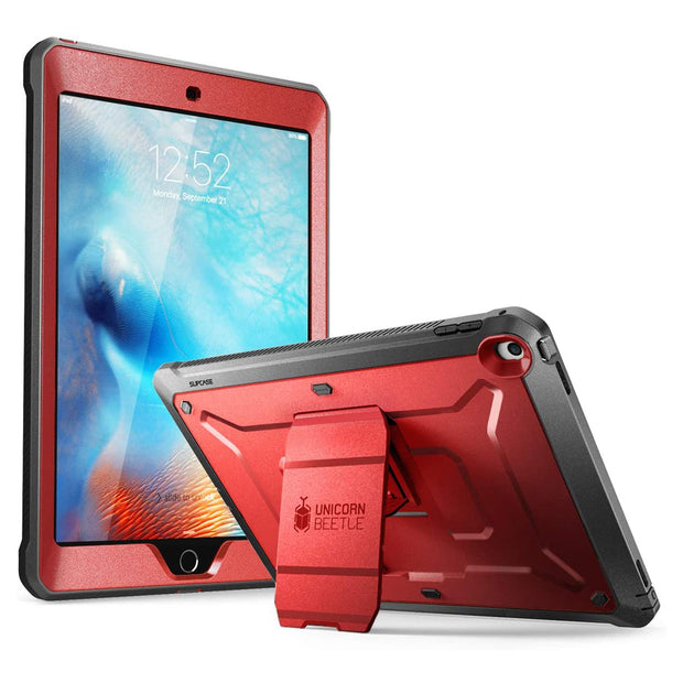 iPad 9.7 inch Unicorn Beetle Pro Full-Body Case-Metallic Red