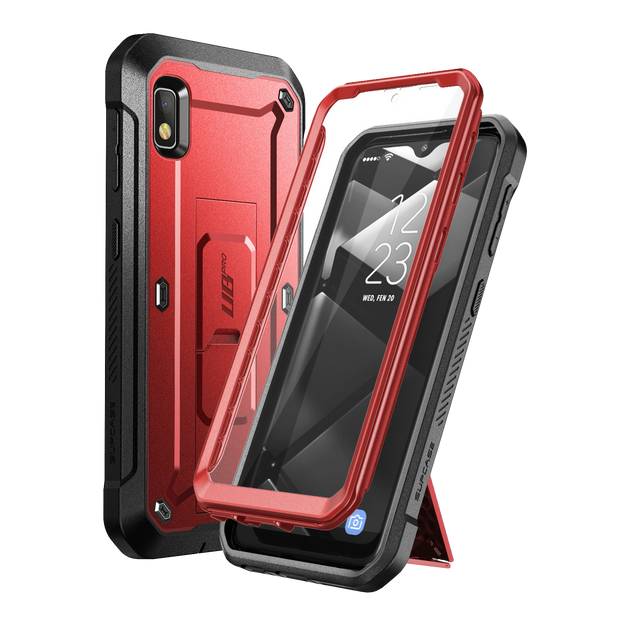 Galaxy A10e Unicorn Beetle Pro Rugged Holster Case-Metallic Red