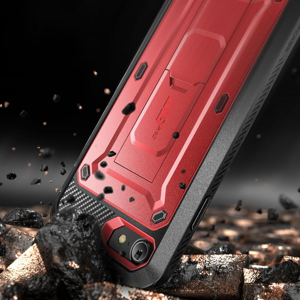 iPhone 7 / 8 Unicorn Beetle Pro Full-Body Case with Kickstand-Metallic Red