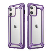 iPhone 12 6.1 inch Unicorn Beetle Exo Clear Case-Purple