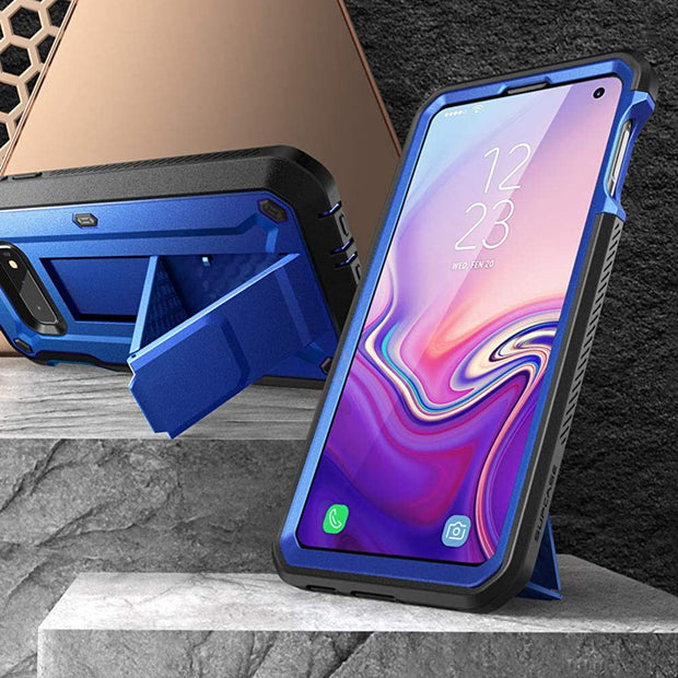 Galaxy S10e Unicorn Beetle Pro Full Body Rugged Holster Case-Dark Blue