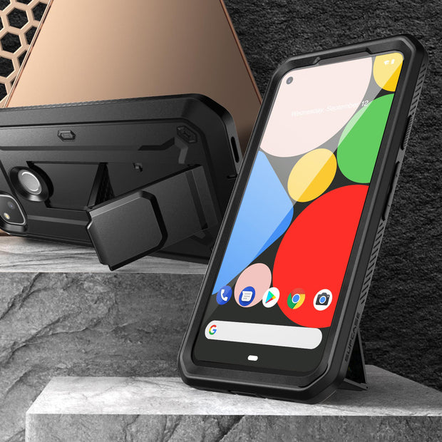Google Pixel 4a (2020) Unicorn Beetle Pro Rugged Holster Case-Black