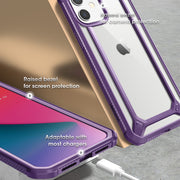 iPhone 12 6.1 inch Unicorn Beetle Exo with Screen Protector Clear Case-Purple