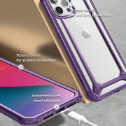 iPhone 12 Pro Max 6.7 inch Unicorn Beetle Exo with Screen Protector Clear Case-Purple