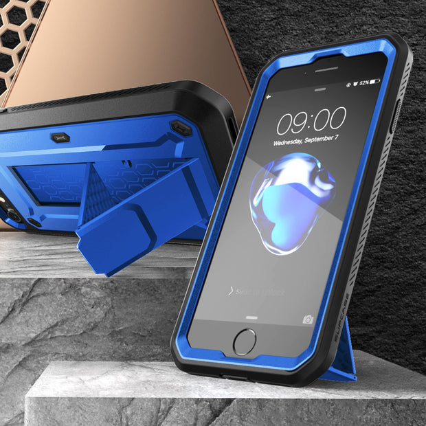 iPhone SE (2020) Unicorn Beetle Pro Full-Body Case with Kickstand-Dark Blue