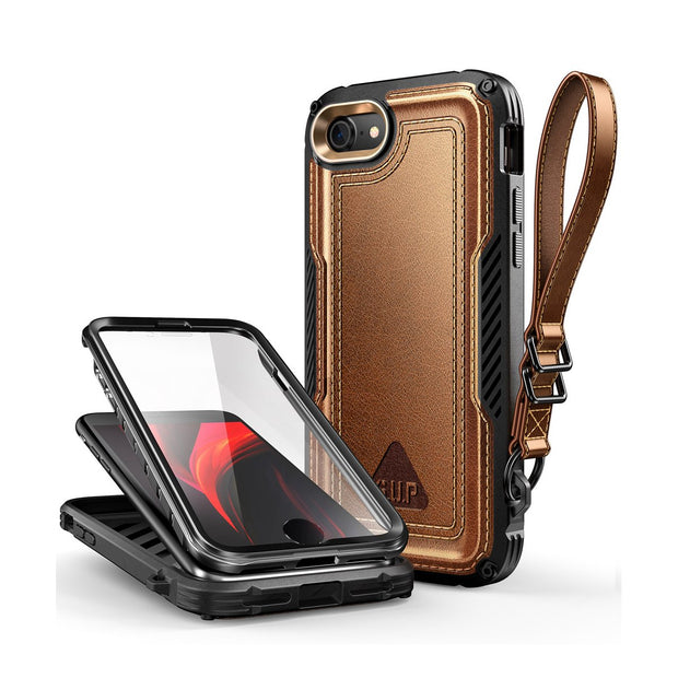 iPhone 7 / 8 Unicorn Beetle Royal Rugged Leather Case-Brown