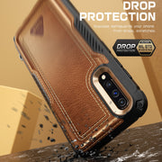 Galaxy A50 Unicorn Beetle Royal Leather Case-Brown