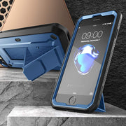 iPhone 7 / 8 Unicorn Beetle Pro Full-Body Case with Kickstand-Metallic Blue