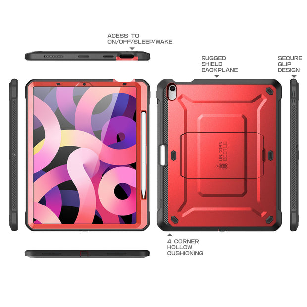 iPad Air 4 10.9 inch (2020) Unicorn Beetle PRO Rugged Case-Metallic Red