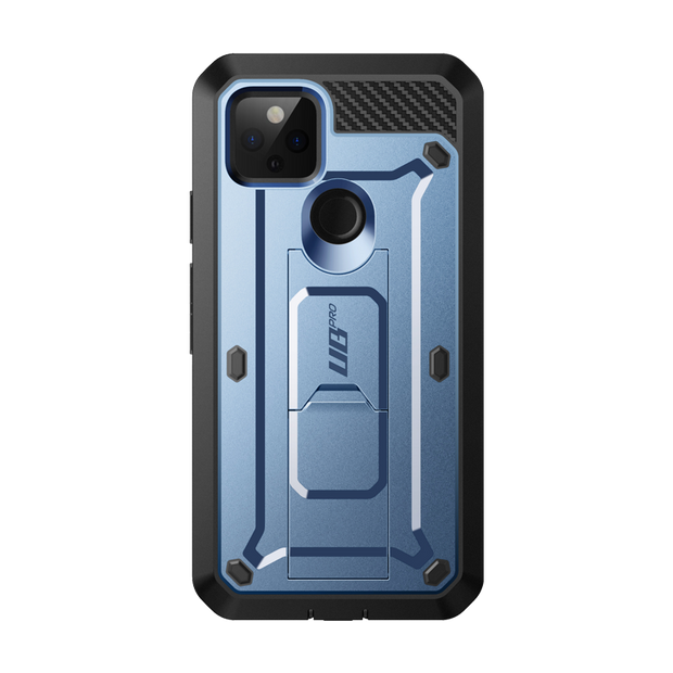 Google Pixel 5 (2020) Unicorn Beetle PRO Rugged Holster Case-Metallic Blue