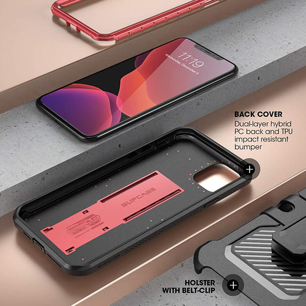 iPhone 11 Pro Max 6.5 inch Unicorn Beetle Pro Rugged Case-Metallic Red