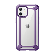 iPhone 12 mini 5.4 inch Unicorn Beetle Exo Clear Case-Purple