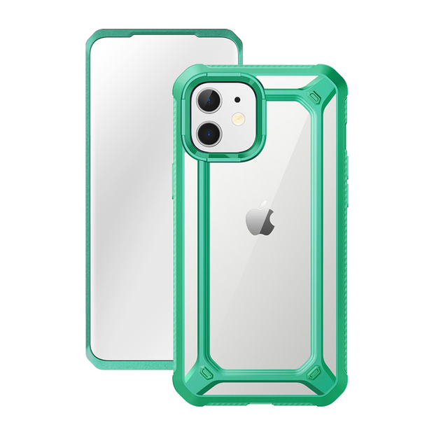 iPhone 12 6.1 inch Unicorn Beetle Exo with Screen Protector Clear Case-Mint Green