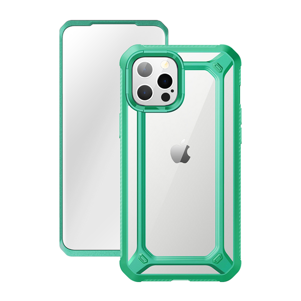 iPhone 12 Pro 6.1 inch Unicorn Beetle Exo with Screen Protector Clear Case-Mint Green