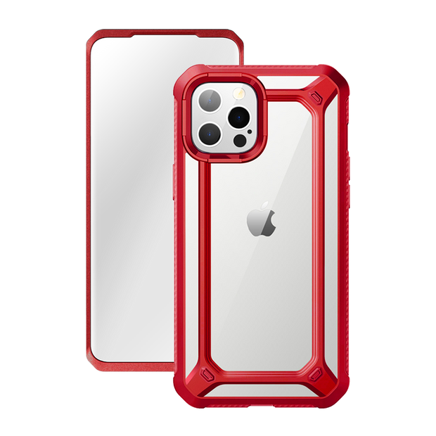 iPhone 12 Pro 6.1 inch Unicorn Beetle Exo with Screen Protector Clear Case-Red