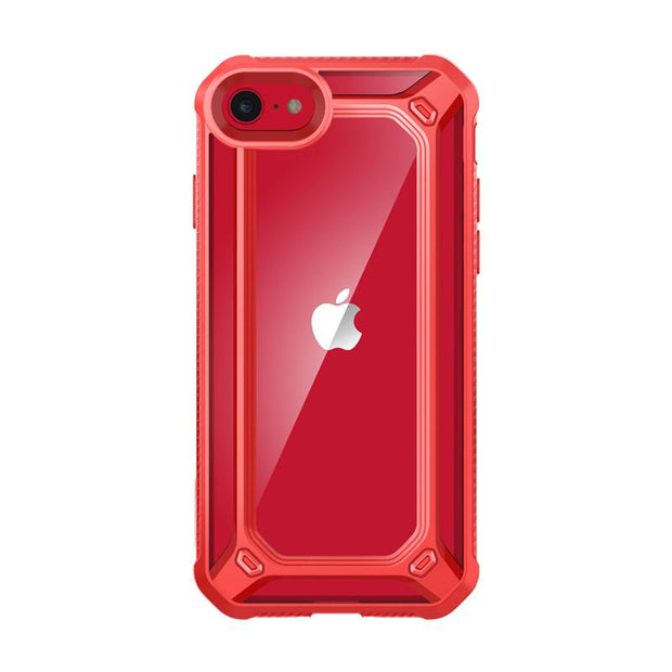 iPhone SE (2020) Unicorn Beetle Exo Clear Case-Red