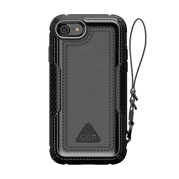 iPhone SE (2020) Unicorn Beetle Royal Rugged Leather Case-Black