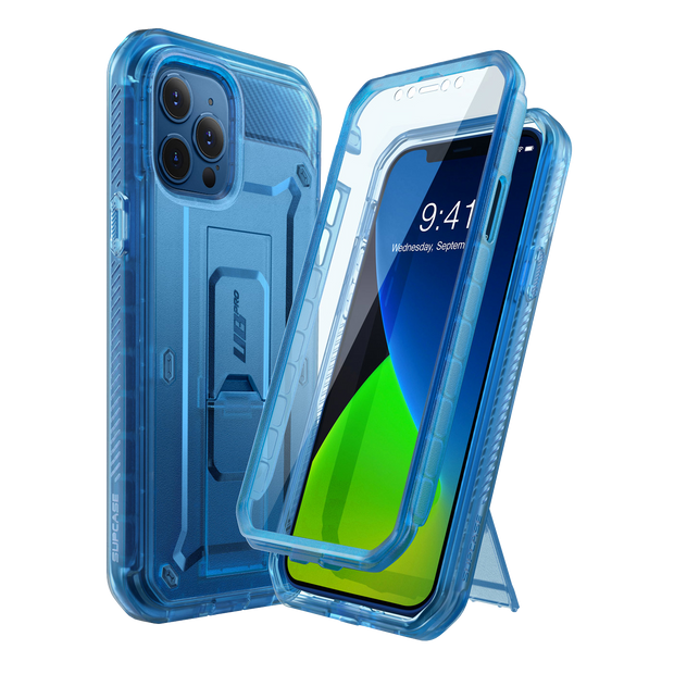 iPhone 12 Pro 6.1 inch Unicorn Beetle Pro Rugged Case-Clear Blue