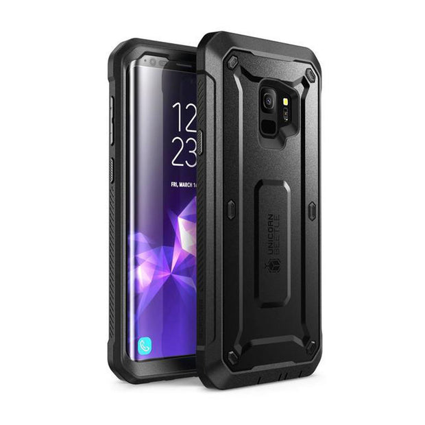 Galaxy S9 Unicorn Beetle Pro Full Body Rugged Holster Case-Blue