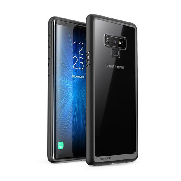 Galaxy Note9 Unicorn Beetle Style Slim Clear Case-Black