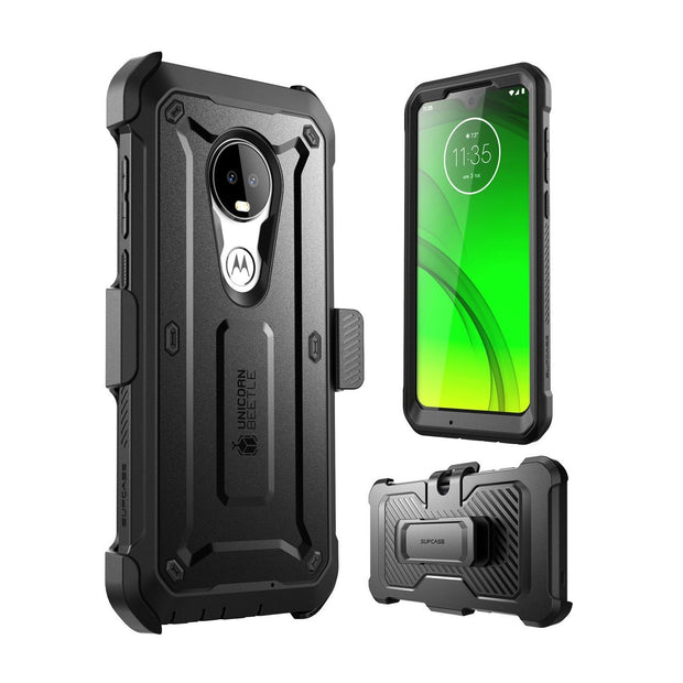 Moto G7 Unicorn Beetle Pro 360 Degree Coverage Case with Holster