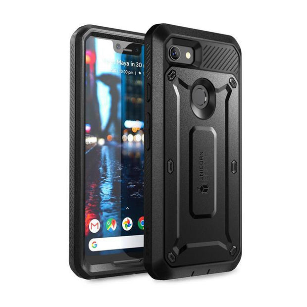 Google Pixel 3a XL Unicorn Beetle Pro Rugged Holster Case-Black