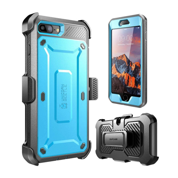 iPhone 7 Unicorn Beetle Pro Holster Case-Blue