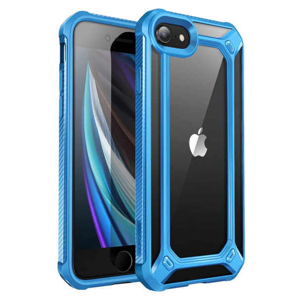 iPhone 7 / 8 Unicorn Beetle Exo Clear Case-Blue