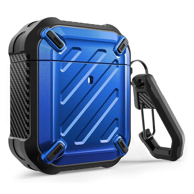 Apple AirPods 1 & 2 Unicorn Beetle Pro Rugged Case-Metallic Blue