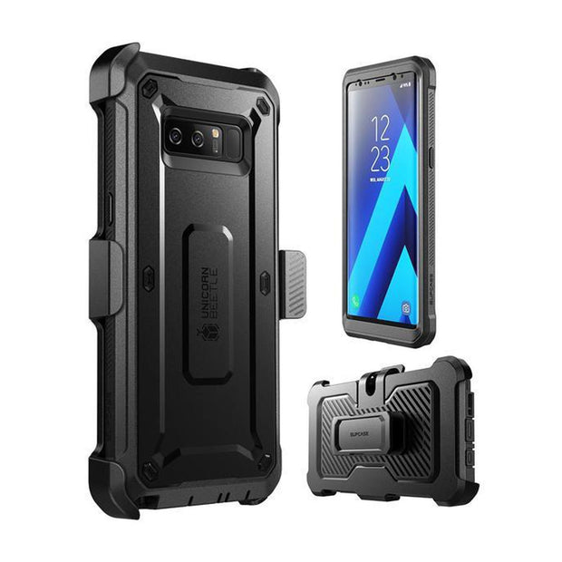 Galaxy Note8 Unicorn Beetle Pro Full Body Rugged Holster Case-Black