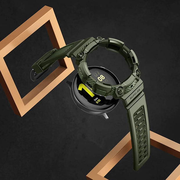 Galaxy Watch Active 2 40mm Unicorn Beetle Pro Wristband Case-Metallic Green