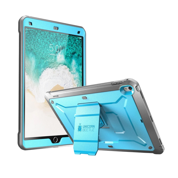 iPad Pro 10.5 inch (2017) Unicorn Beetle Rugged Case with Screen Protector-Blue