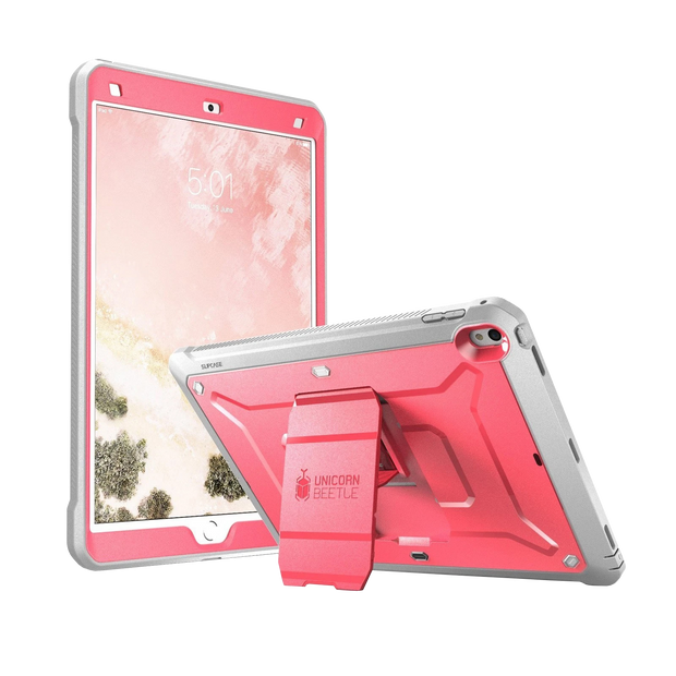 iPad Pro 10.5 inch (2017) Unicorn Beetle Rugged Case with Screen Protector-Pink