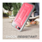 iPhone 7 Unicorn Beetle Pro Holster Case-Pink
