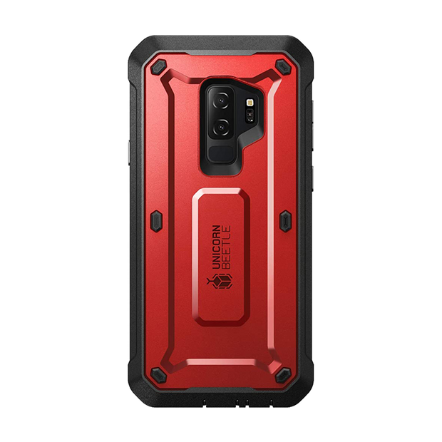 Galaxy S9 Plus Unicorn Beetle Pro Full Body Rugged Case-Metallic Red