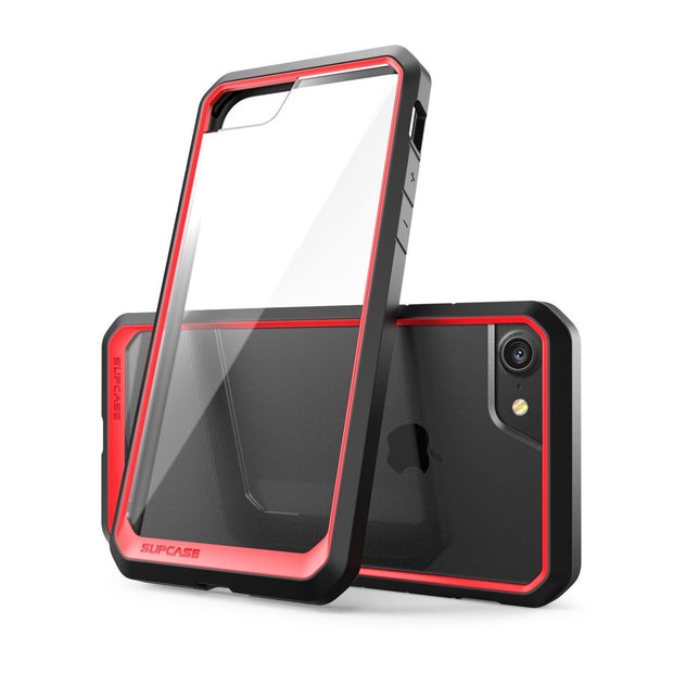 iPhone 8 Unicorn Beetle Hybrid Protective Bumper Case-Red