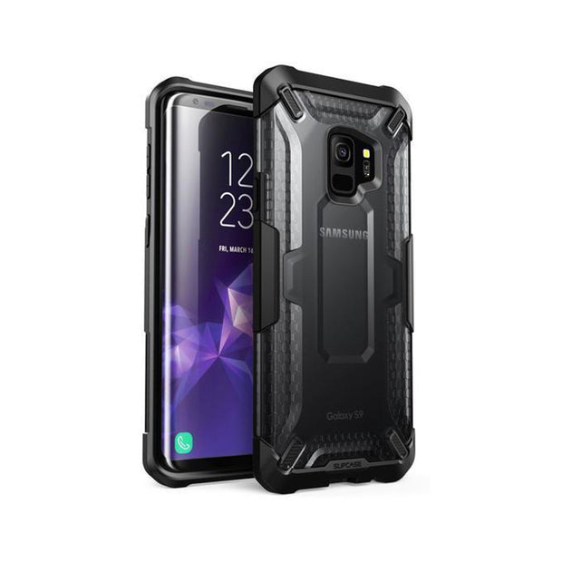 Galaxy S9 Unicorn Beetle Hybrid Clear Protective Case-Black