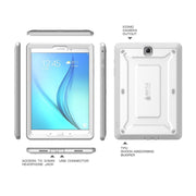 Galaxy Tab A 8.0 inch (2016) Unicorn Beetle Pro Rugged Case with Built-in Screen Protector-White