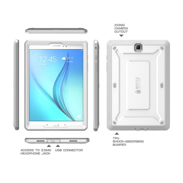 Galaxy Tab A 8.0 inch Unicorn Beetle Pro Rugged Case with Built-in Screen Protector (2016)