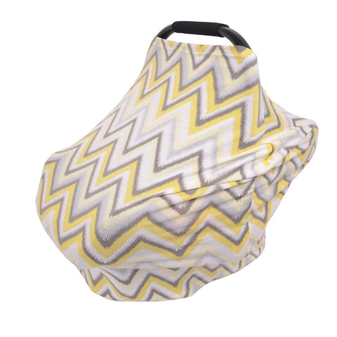 MilkBrain Baby Cover - Yellow Chevron