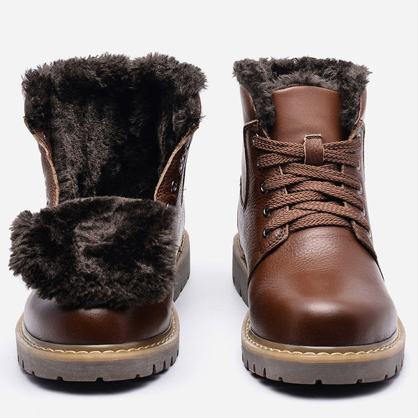 He Crafted Men's Handmade Full Grain Leather Winter Boots