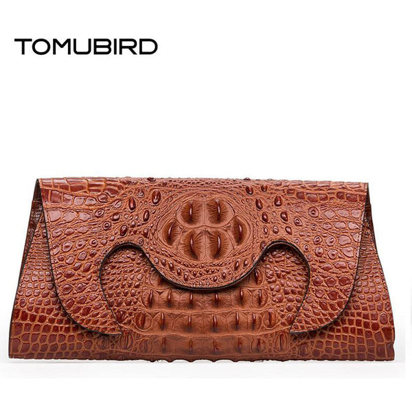 TOMUBIRD Embossed Crocodile Evening Clutches