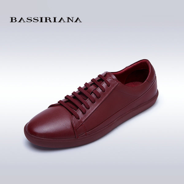 BASSIRIANA Men's Genuine leather Lace-Up Casual Shoe