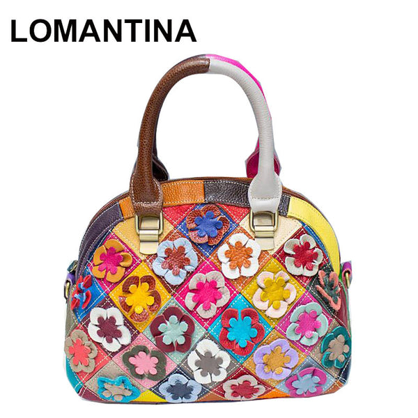 LOMANTINA Sarah Candy Floral Small Leather Shoulder Bag